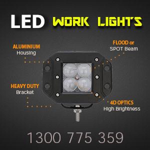 LED Work Light | Flush Mount | 3 Inch 40 Watt Reverse Light Features