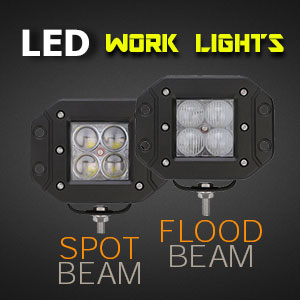 LED Work Light | Flush Mount | 3 Inch 40 Watt Reverse Light Features Flood and Spot Beam