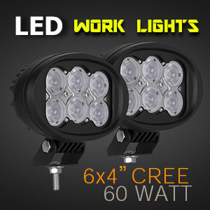 LED Work Light | Oval 4x6 Inch 60 Watt
