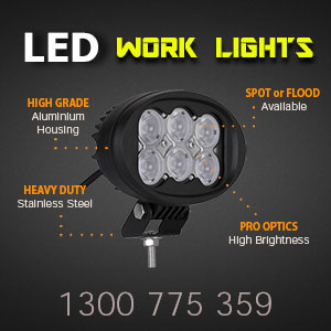 LED Work Light | Oval 4x6 Inch 60 Watt Features