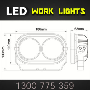 LED Work Lights 4x7 Inch 80 Watt Pro Series Dimensions