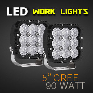 LED Work Light | Heavy Duty 5 Inch 90 Watt