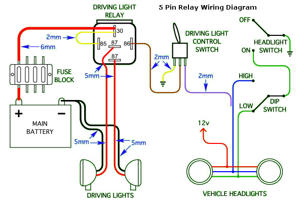 wiring diagram standard 5pin wiring a relay for driving lights schematic wiring diagram