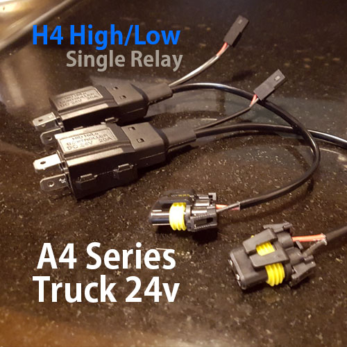 H4 H/L Relay Harness | Cars, Trucks, and Motorcycles H Hid Wiring Harness on