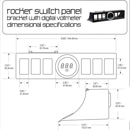 Rocker Switches And Switch Box Panels