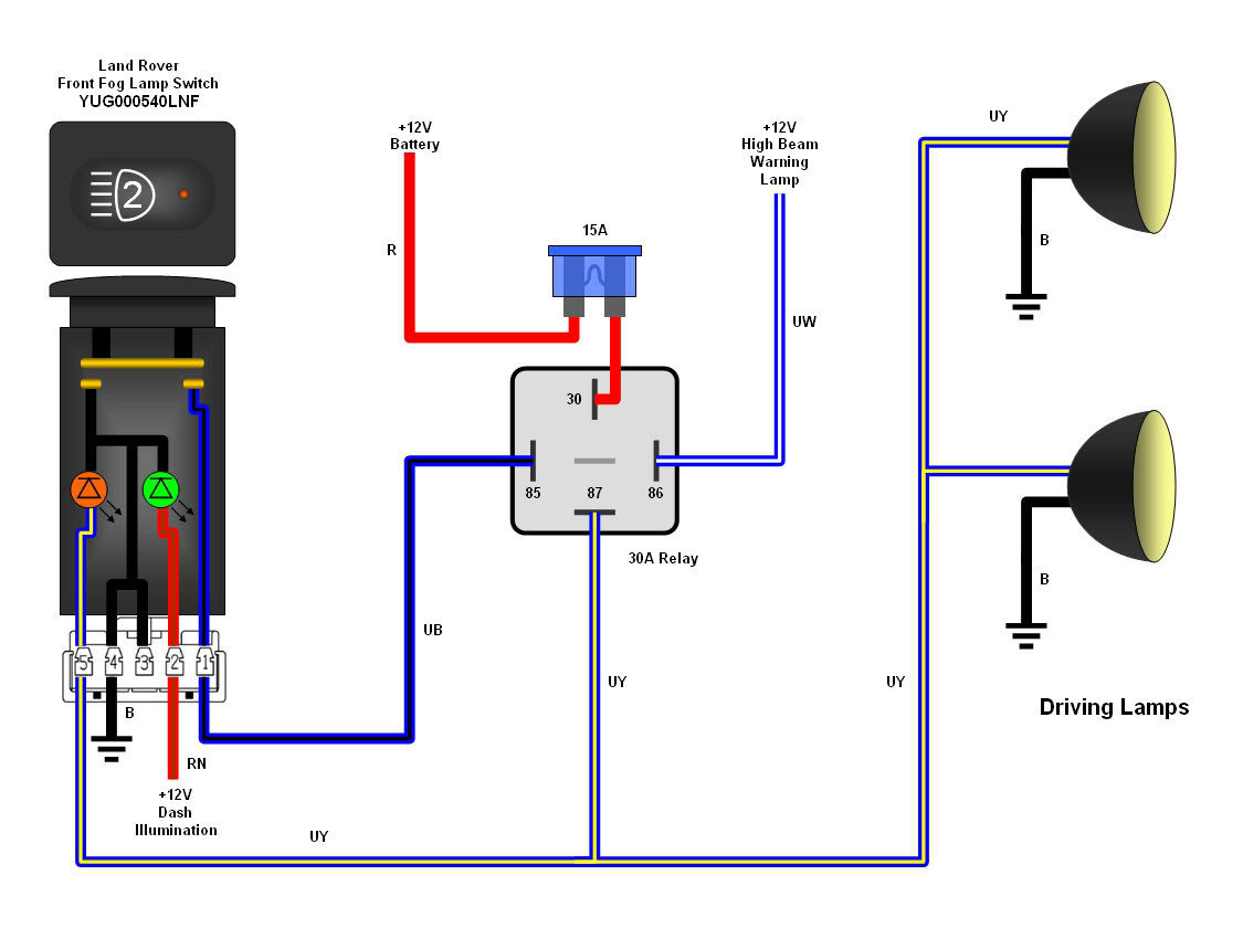 Xenon Hid Wiring Diagram Diagrams For Driving Lights And Msd Blaster 2 Spot Land Rover Light
